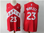 Toronto Raptors #23 Fred VanVleet 2018/19 Red Earned Edition Swingman Jersey
