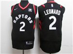 Toronto Raptors #2 Kawhi Leonard Black Authentic Jersey