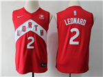 Toronto Raptors #2 Kawhi Leonard Youth Red Earned Edition Swingman Jersey