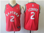 Toronto Raptors #2 Kawhi Leonard Youth Red Swingman Jersey