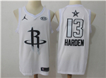 Houston Rockets #13 James Harden White 2018 All-Star Game Swingman Jersey