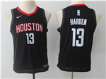 Houston Rockets #13 James Harden 2017/18 Youth Black Swingman Jersey