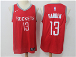 Houston Rockets #13 James Harden 2017/18 Red Swingman Jersey