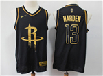 Houston Rockets #13 James Harden Black Gold Swingman Jersey