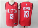 Houston Rockets #13 James Harden 2018/19 Red Earned Edition Swingman Jersey