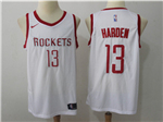 Houston Rockets #13 James Harden 2017/18 White Swingman Jersey