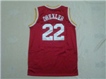 Houston Rockets #22 Clyde Drexler Throwback Red Jersey