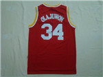 Houston Rockets #34 Hakeem Olajuwon Throwback Red Jersey