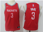 Houston Rockets #3 Chris Paul Youth Red Swingman Jersey