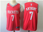 Houston Rockets #7 Carmelo Anthony Red Swingman Jersey