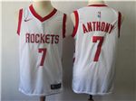 Houston Rockets #7 Carmelo Anthony White Swingman Jersey