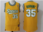 Seattle SuperSonics #35 Kevin Durant Throwback Gold Jersey