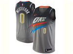 Oklahoma City Thunder #0 Russell Westbrook Gray City Edition Swingman Jersey