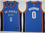 Oklahoma City Thunder #0 Russell Westbrook 2017/18 Blue Swingman Jersey