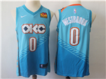 Oklahoma City Thunder #0 Russell Westbrook 2018/19 Turquoise City Edition Swingman Jersey
