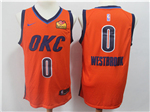Oklahoma City Thunder #0 Russell Westbrook 2018/19 Orange Earned Edition Swingman Jersey