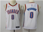 Oklahoma City Thunder #0 Russell Westbrook Youth White Swingman Jersey