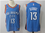 Oklahoma City Thunder #13 Paul George 2017/18 Blue Jersey