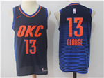 Oklahoma City Thunder #13 Paul George 2017/18 Navy Jersey