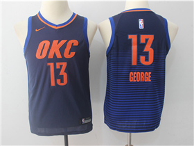 Oklahoma City Thunder #13 Paul George 2017/18 Youth Navy Swingman Jersey