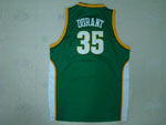 Seattle SuperSonics #35 Kevin Durant Green Jersey