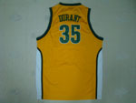 Seattle SuperSonics #35 Kevin Durant Gold Jersey