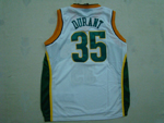 Seattle SuperSonics #35 Kevin Durant White Jersey