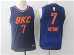 Oklahoma City Thunder #7 Carmelo Anthony 2017/18 Youth Navy Jersey