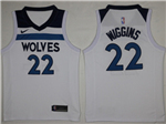 Minnesota Timberwolves #22 Andrew Wiggins 2017/18 White Jersey