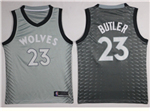 Minnesota Timberwolves #23 Jimmy Butler 2017/18 Gray City Edition Swingman Jersey