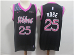 Minnesota Timberwolves #25 Derrick Rose 2018/19 Black City Edition Swingman Jersey