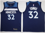 Minnesota Timberwolves #32 Karl-Anthony Towns Navy Swingman Jersey
