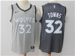 Minnesota Timberwolves #32 Karl-Anthony Towns 2017/18 Gray City Edition Swingman Jersey