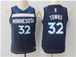 Minnesota Timberwolves #32 Karl-Anthony Towns Youth Navy Swingman Jersey