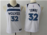 Minnesota Timberwolves #32 Karl-Anthony Towns Youth White Swingman Jersey