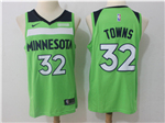 Minnesota Timberwolves #32 Karl-Anthony Towns Green Swingman Jersey