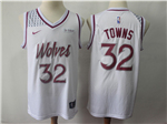 Minnesota Timberwolves #32 Karl-Anthony Towns 2018/19 White Earned Edition Swingman Jersey