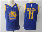 Golden State Warriors #11 Klay Thompson Youth Blue Swingman Jersey