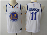 Golden State Warriors #11 Klay Thompson 2017/18 Youth White Swingman Jersey