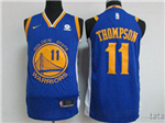 Golden State Warriors #11 Klay Thompson 2017/18 Blue Authentic Jersey