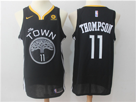Golden State Warriors #11 Klay Thompson 2017/18 Black Jersey