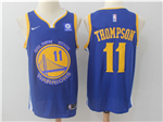 Golden State Warriors #11 Klay Thompson 2017/18 Blue Swingman Jersey