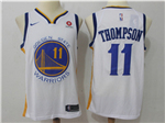 Golden State Warriors #11 Klay Thompson 2017/18 White Swingman Jersey