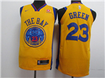 Golden State Warriors #23 Draymond Green Gold City Edition Authentic Jersey