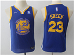 Golden State Warriors #23 Draymond Green 2017/18 Youth Blue Swingman Jersey