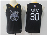 Golden State Warriors #30 Stephen Curry 2017/18 Youth Black Swingman Jersey