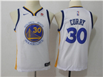 Golden State Warriors #30 Stephen Curry 2017/18 Youth White Swingman Jersey