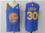 Golden State Warriors #30 Stephen Curry 2017/18 Blue Jersey