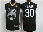 Golden State Warriors #30 Stephen Curry 2017/18 Black Jersey
