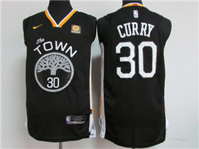 Golden State Warriors #30 Stephen Curry 2017/18 Black Authentic Jersey